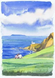 Hartland Point to Lundy Island; available to buy; see Paintings for sale at the top of the menu on the right